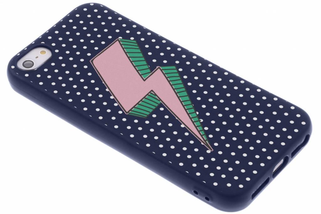 Bliksem design siliconen hoesje voor de iPhone 5 / 5s / SE