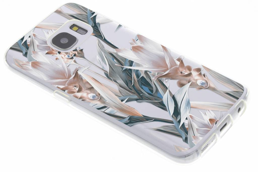 Bloemen design siliconen hoesje voor Samsung Galaxy S7