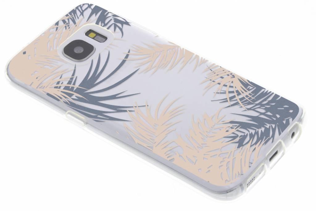 Botanic design siliconen hoesje voor Samsung Galaxy S7