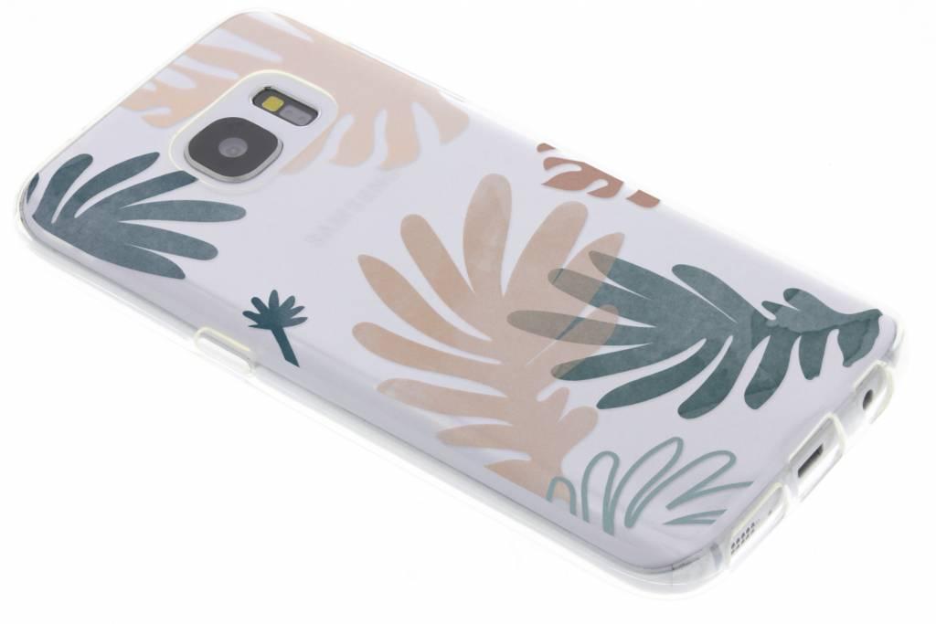 Bloemen pastel design siliconen hoesje voor Samsung Galaxy S7