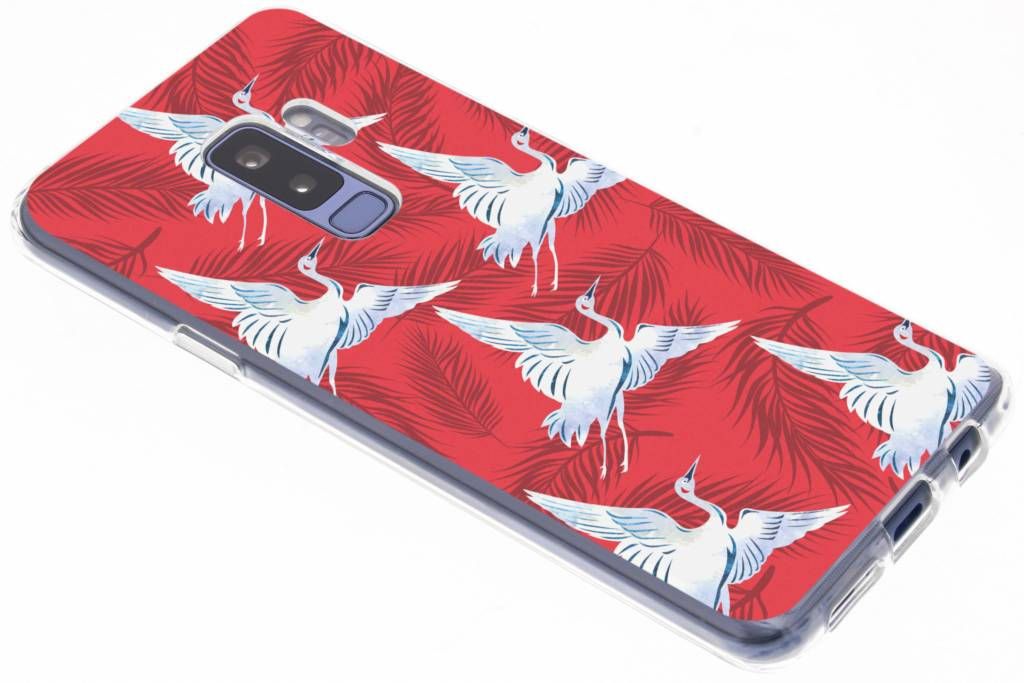 Vogels design siliconen hoesje voor de Samsung Galaxy S9 Plus