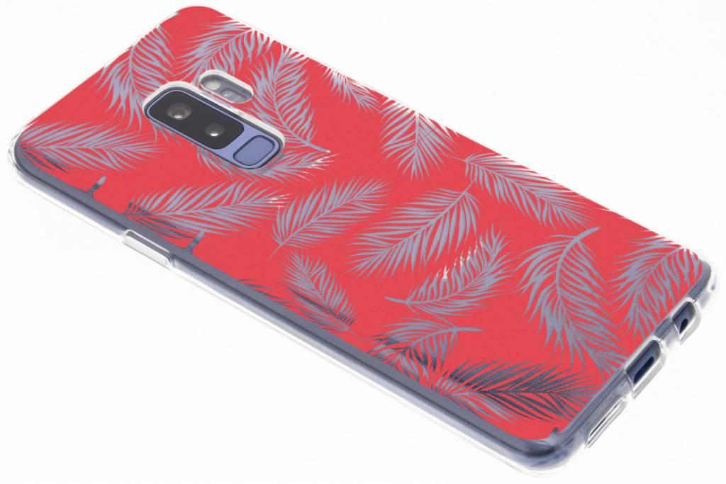 Botanic rood design siliconen hoesje voor de Samsung Galaxy S9 Plus