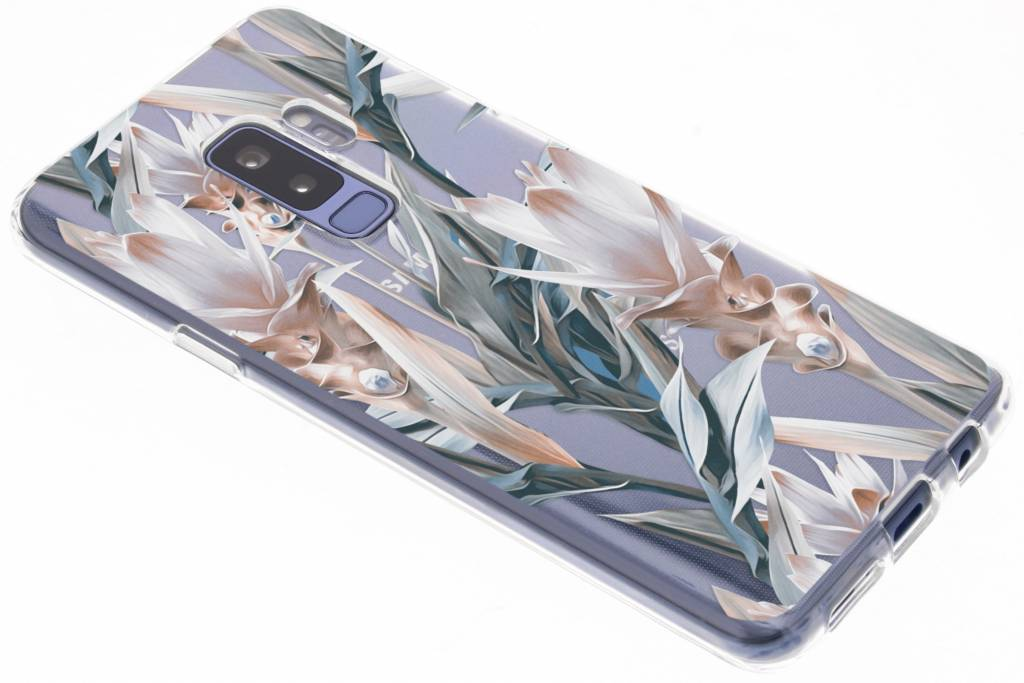 Bloemen design siliconen hoesje voor de Samsung Galaxy S9 Plus