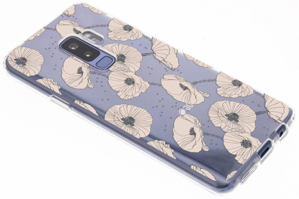 Bloemen pastel design siliconen hoesje voor de Samsung Galaxy S9 Plus