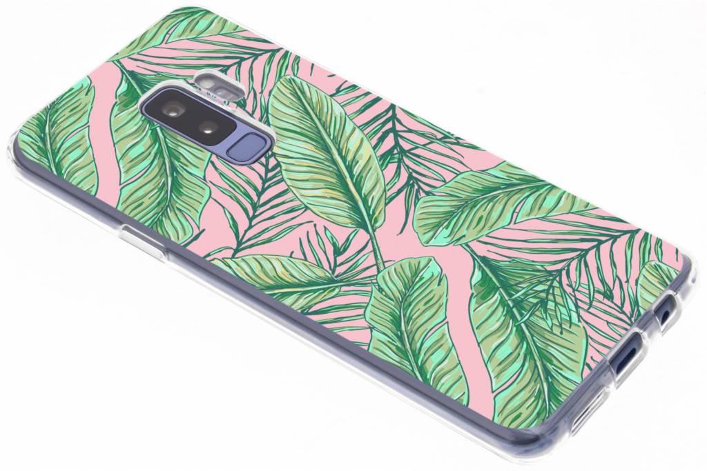 Botanic design siliconen hoesje voor de Samsung Galaxy S9 Plus