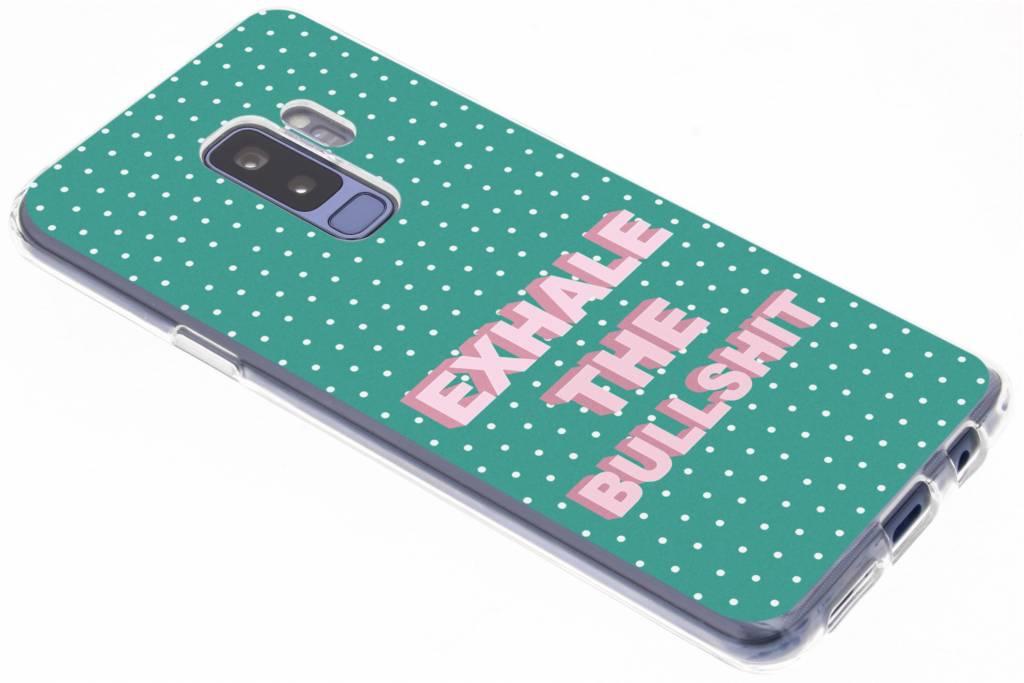 Quote design siliconen hoesje voor de Samsung Galaxy S9 Plus