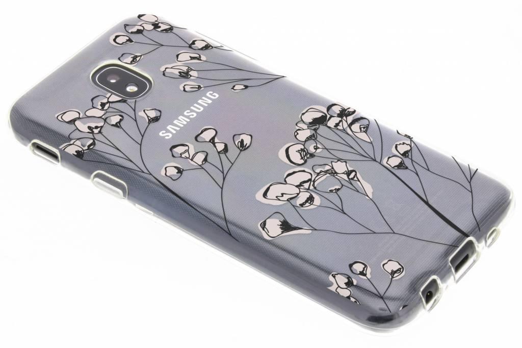 Bloemen design siliconen hoesje voor de Samsung Galaxy J5 (2017)