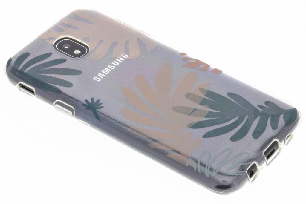 Bloemen pastel design siliconen hoesje voor de Samsung Galaxy J5 (2017)