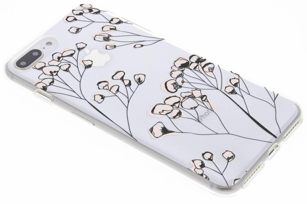 Bloemen design siliconen hoesje voor de iPhone 8 Plus / 7 Plus