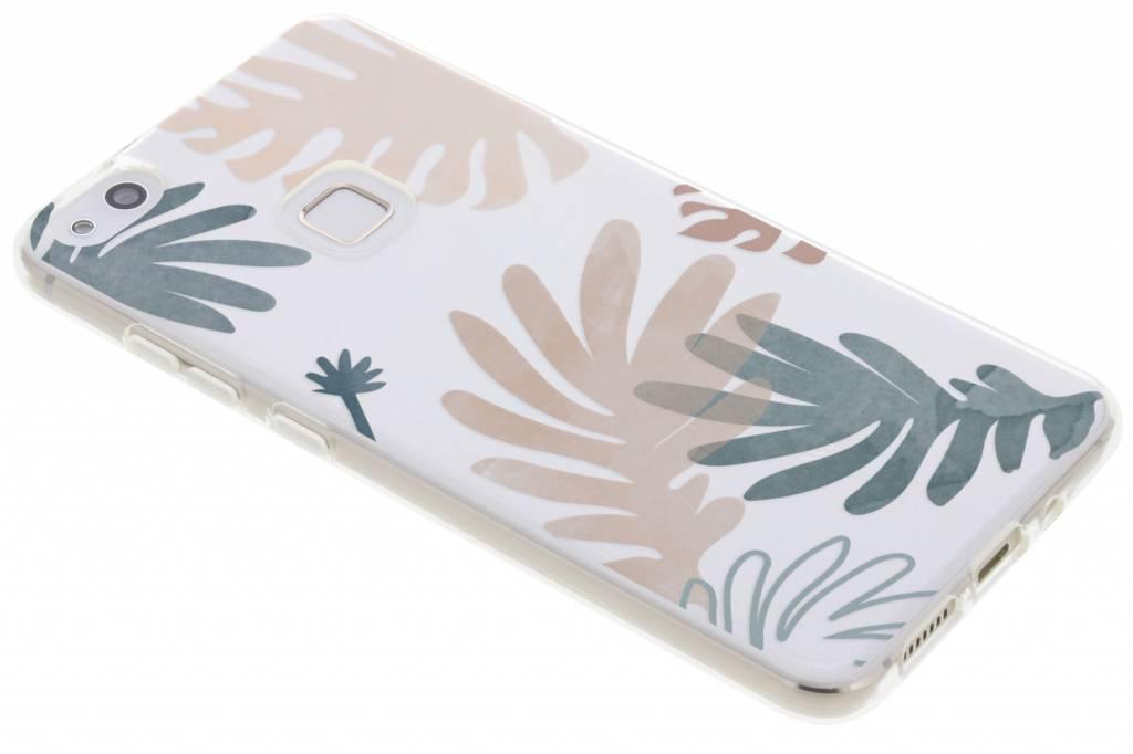 Bloemen pastel design siliconen hoesje voor de Huawei P10 Lite
