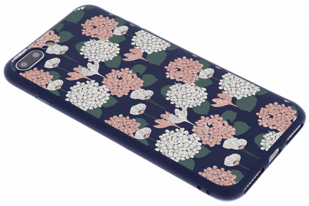 Bloemen pastel design siliconen hoesje voor de iPhone 8 Plus / 7 Plus