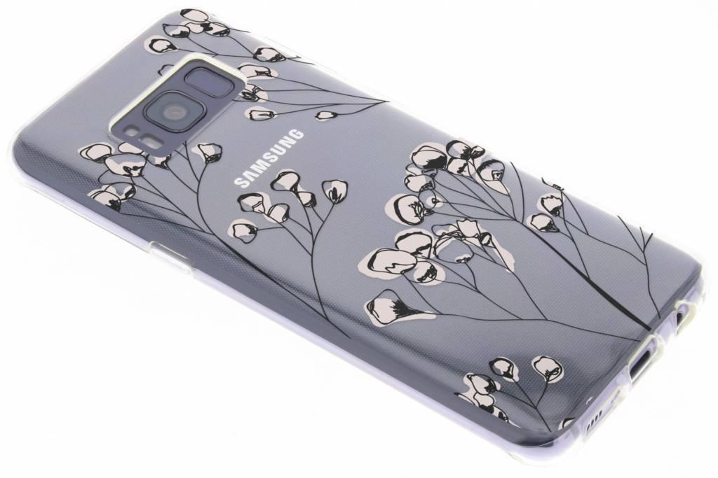 Bloemen design siliconen hoesje voor de Samsung Galaxy S8