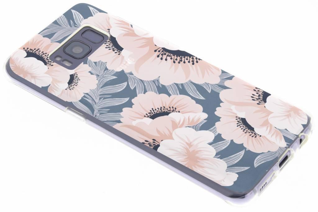 Bloemen pastel design siliconen hoesje voor de Samsung Galaxy S8