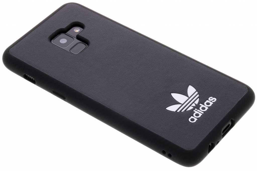 Zwarte Basic Logo Case voor de Samsung Galaxy A8 (2018)