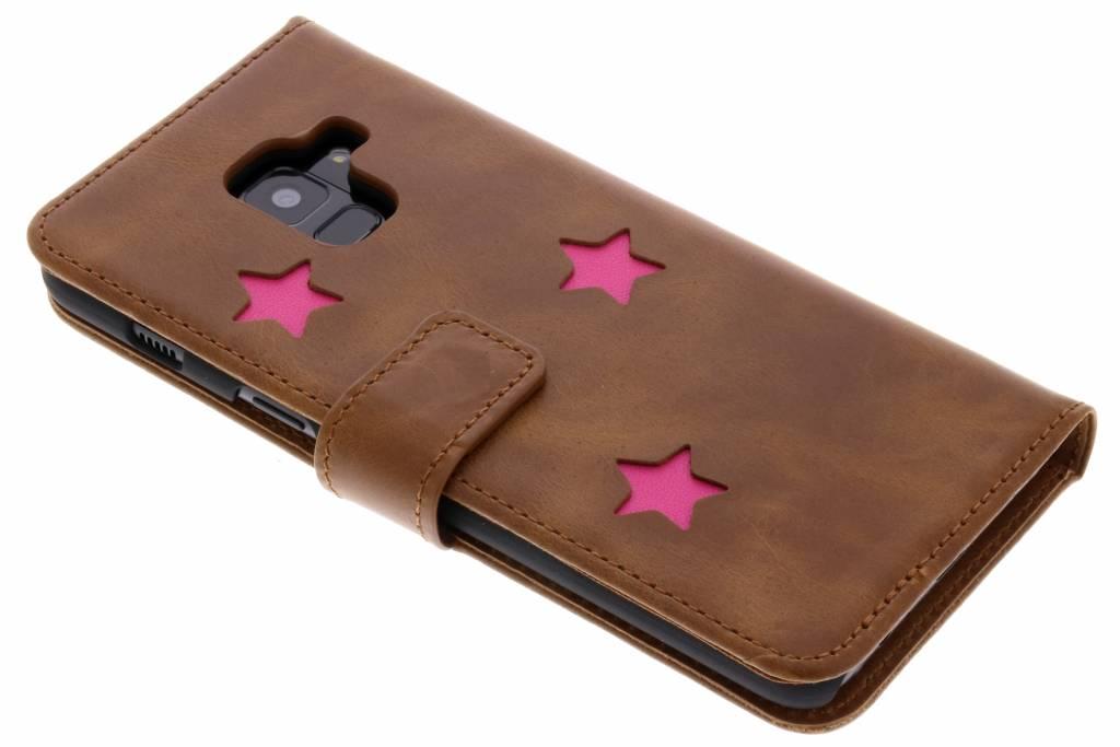 Pink Reversed Star Booktype hoes voor de Samsung Galaxy A8 (2018)