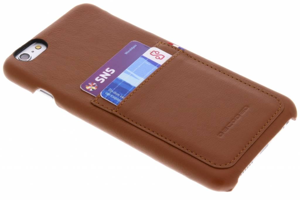 Bruine Leather Back Cover voor de iPhone 6(s) Plus