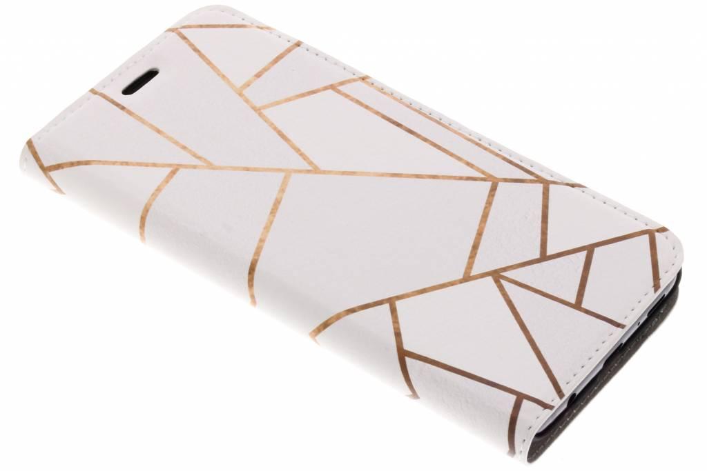 Wit Grafisch Design Booklet voor de Samsung Galaxy S9