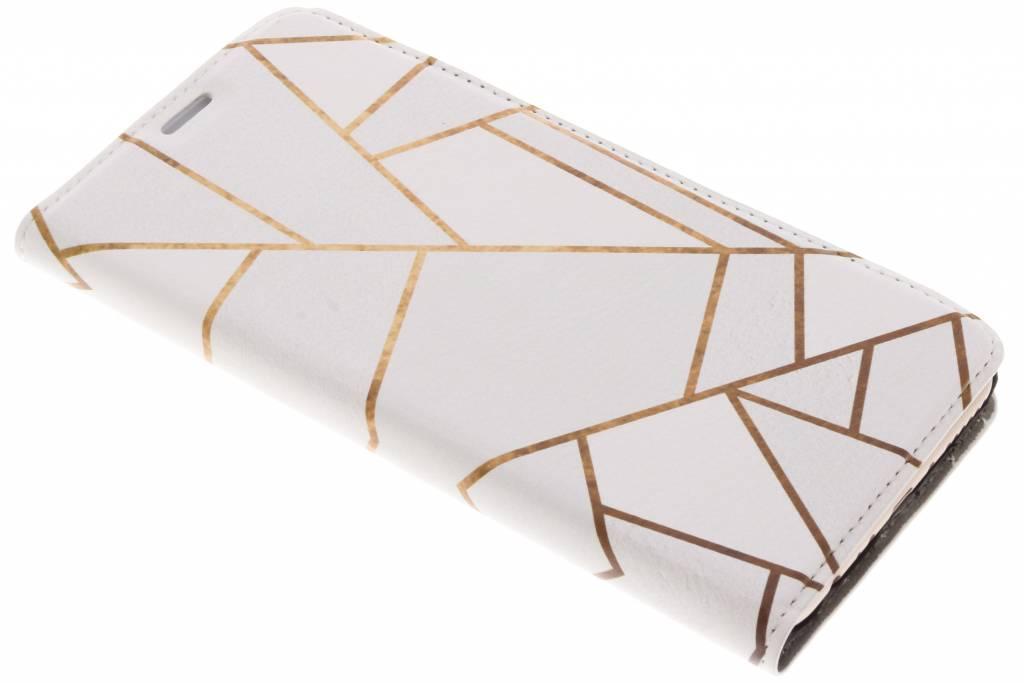 Wit Grafisch Design Booklet voor de Huawei Mate 10 Lite