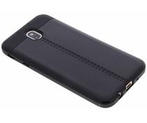 Zwart Lederen siliconen case Samsung Galaxy J7 (2017)