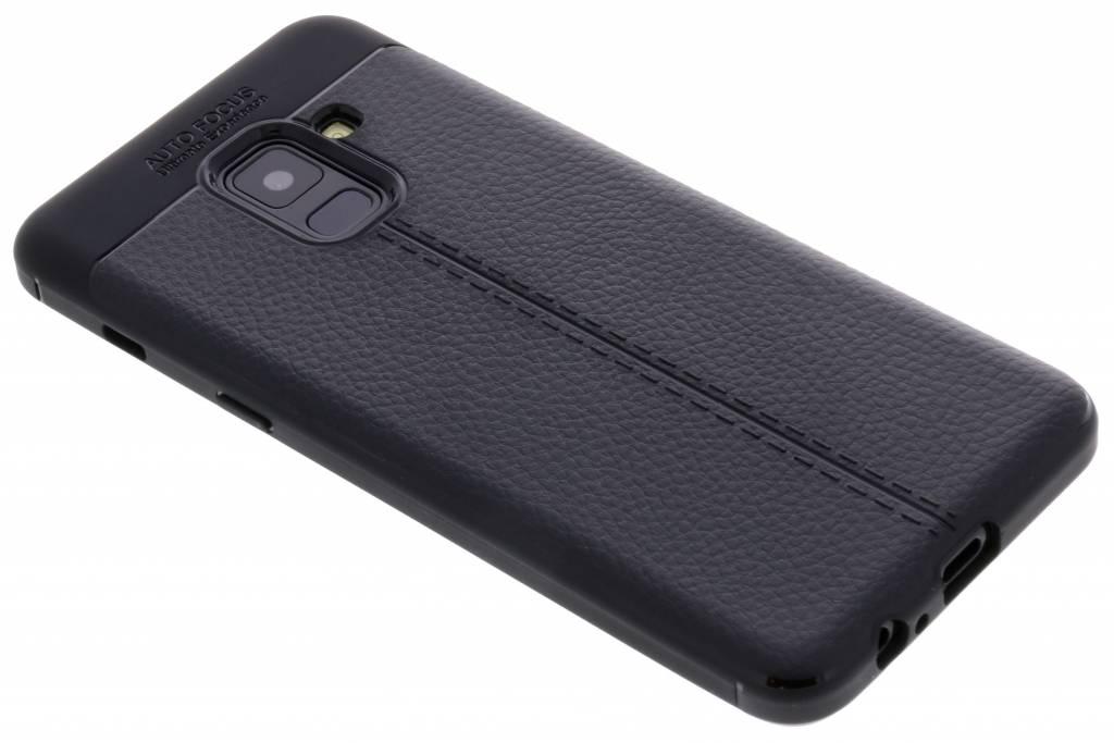 Zwarte Lederen siliconen case voor de Samsung Galaxy A8 (2018)