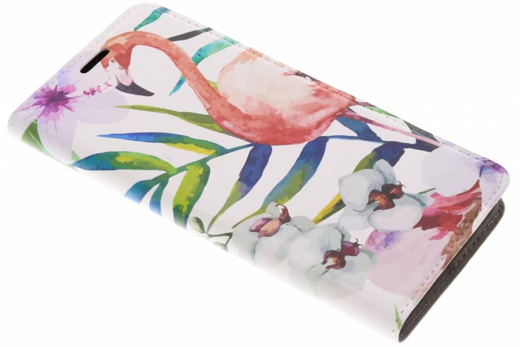 Flamingo Design Booklet voor de Samsung Galaxy A8 (2018)