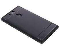 Zwart Brushed TPU Case Sony Xperia XA2
