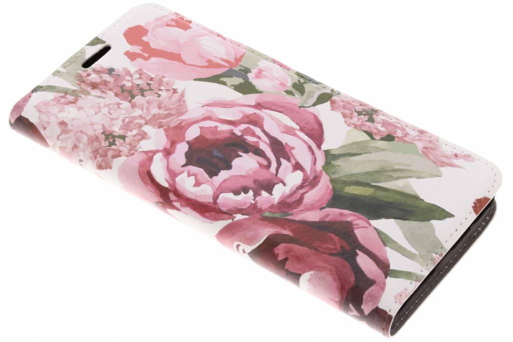 Bloemen Design Booklet voor de Samsung Galaxy A8 (2018)