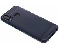 Donkerblauw Brushed TPU case Huawei P20 Lite