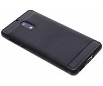 Zwart Brushed TPU case Nokia 6