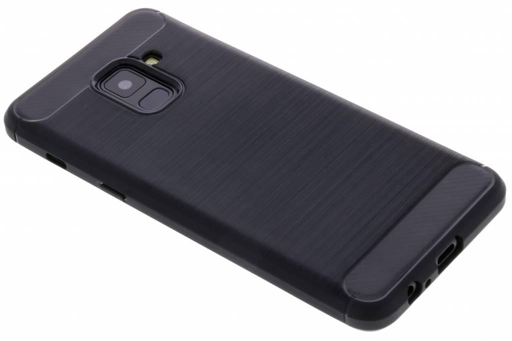 Zwarte Brushed TPU case voor de Samsung Galaxy A8 (2018)