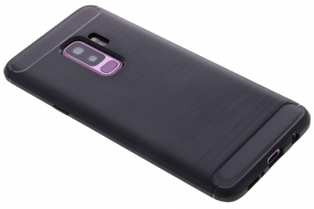Zwarte Brushed TPU case voor de Samsung Galaxy S9 Plus