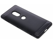 Zwart Brushed TPU case Sony Xperia XZ2