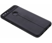 Zwart Lederen siliconen case Huawei P Smart