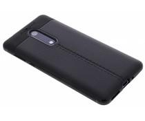 Zwart Lederen siliconen case Nokia 5