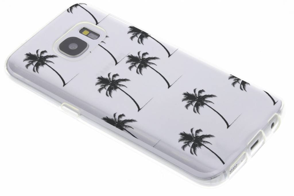 Palmtrees design siliconen hoesje voor de Samsung Galaxy S7