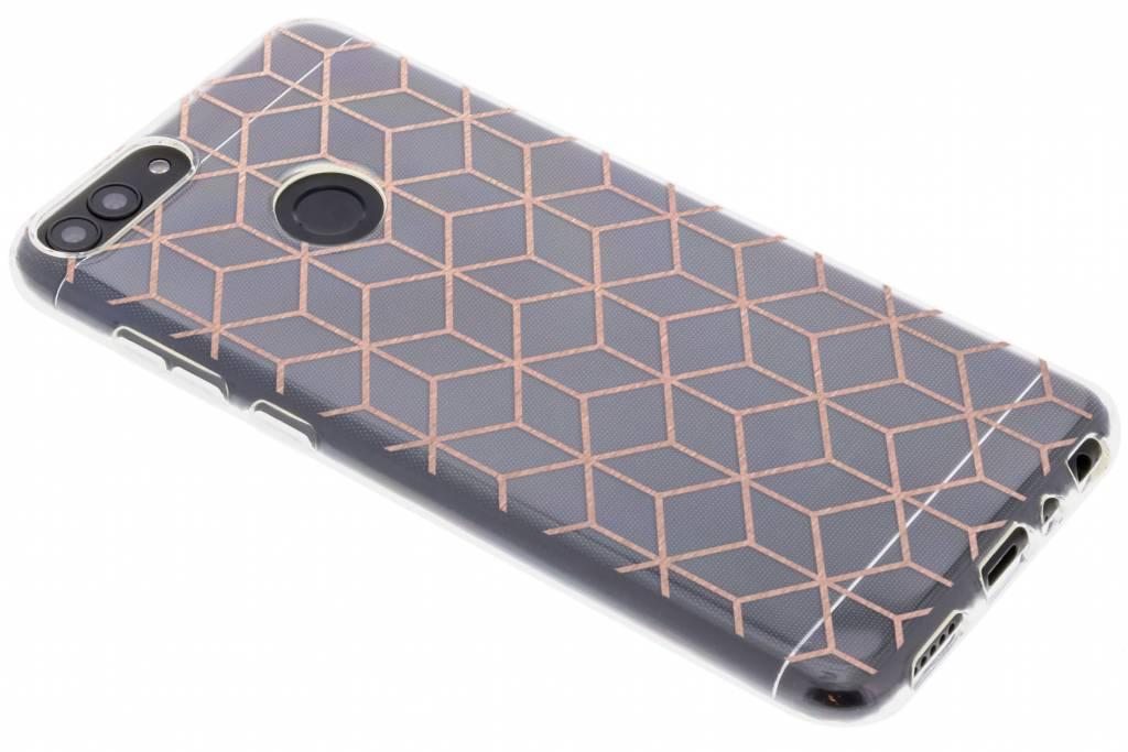 Cubes Rose Gold design TPU hoesje voor de Huawei P Smart