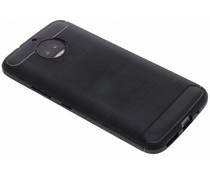 Zwart Brushed TPU case Motorola Moto G5S Plus