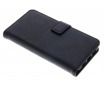 Donkerblauw luxe leder booktype hoes Huawei P20