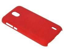 Rood effen hardcase hoesje Nokia 1