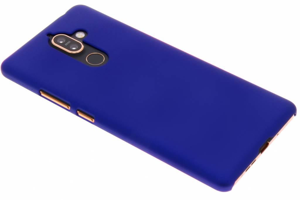 Blauw effen hardcase hoesje voor de Nokia 7 Plus
