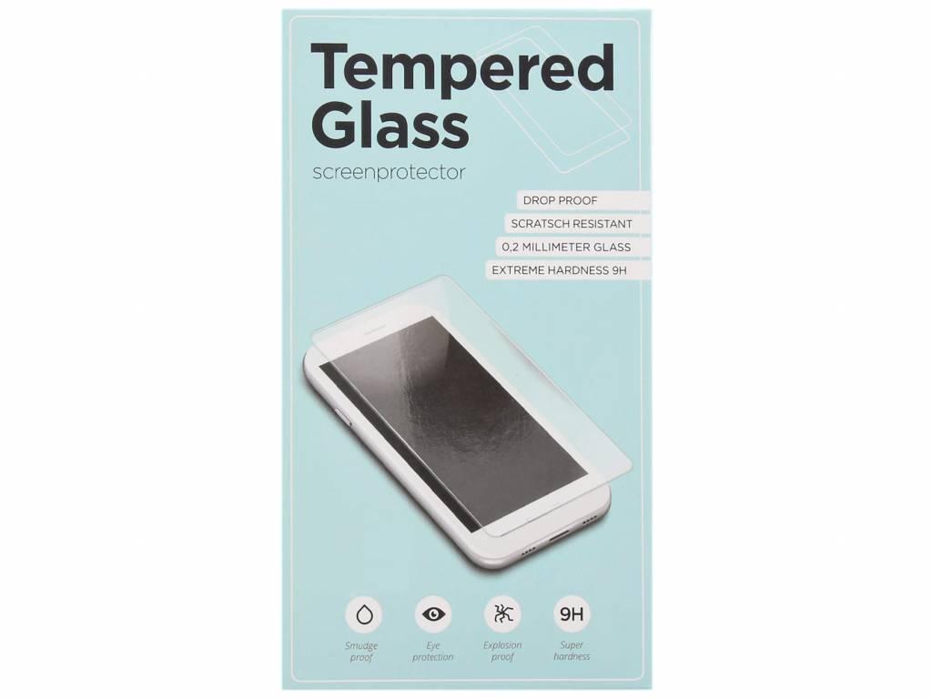 Zwarte gehard glas full glue screenprotector voor de Samsung Galaxy A8 (2018)