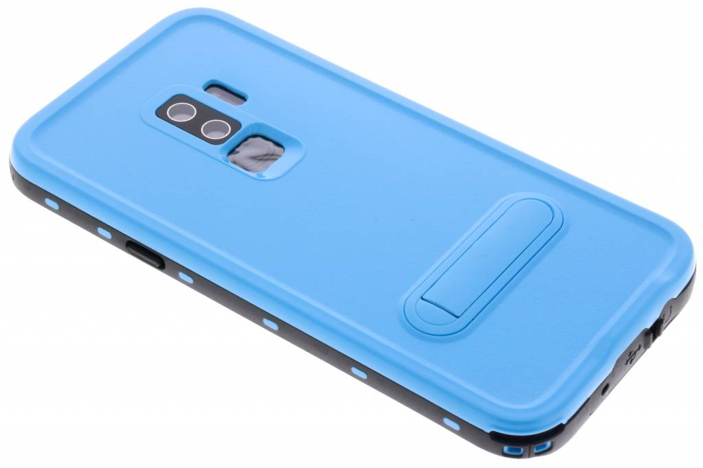 Redpepper Blauwe Dot Waterproof Case voor de Samsung Galaxy S9 Plus