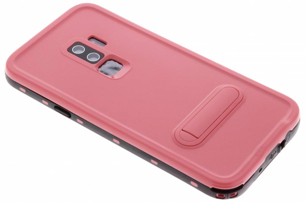 Roze Dot Waterproof Case voor de Samsung Galaxy S9 Plus