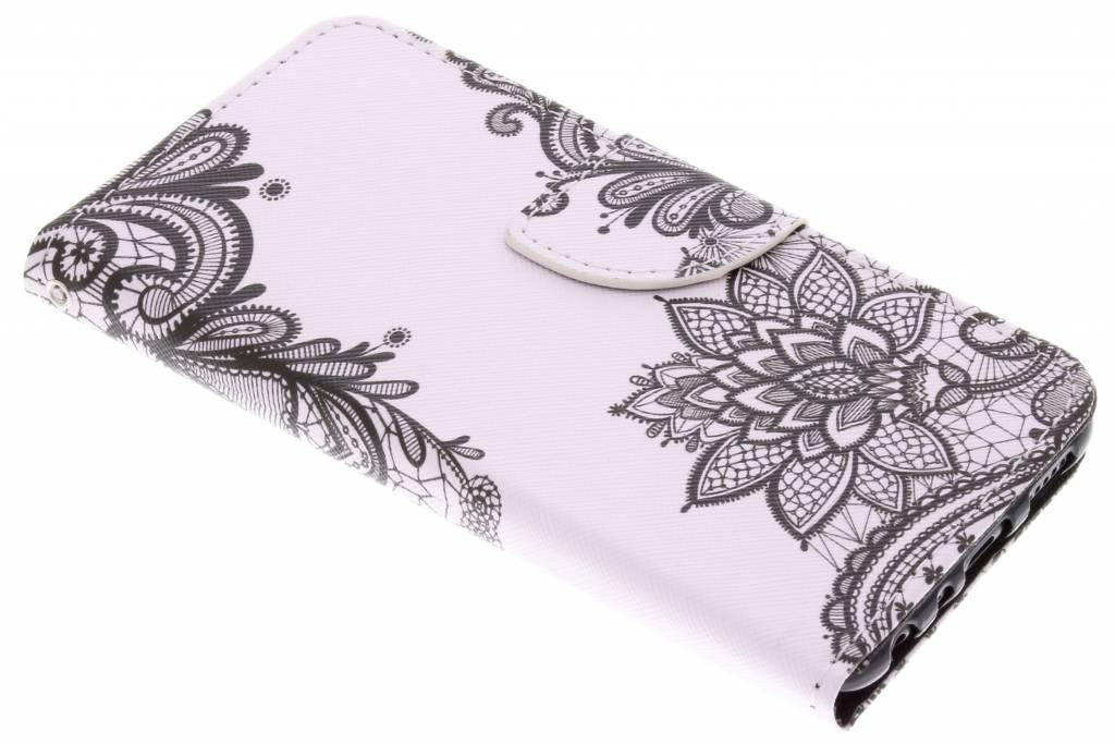 Flowers design TPU booktype hoes voor de Huawei P Smart