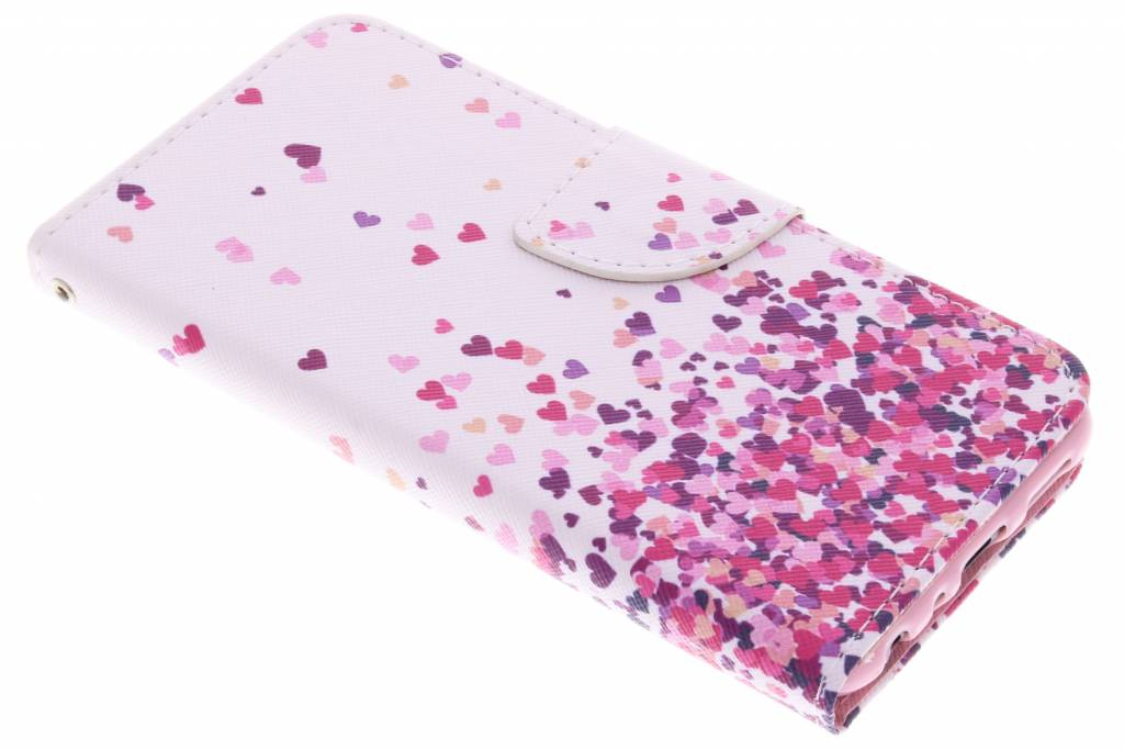 Colorful Hearts design TPU booktype hoes voor de Huawei P Smart