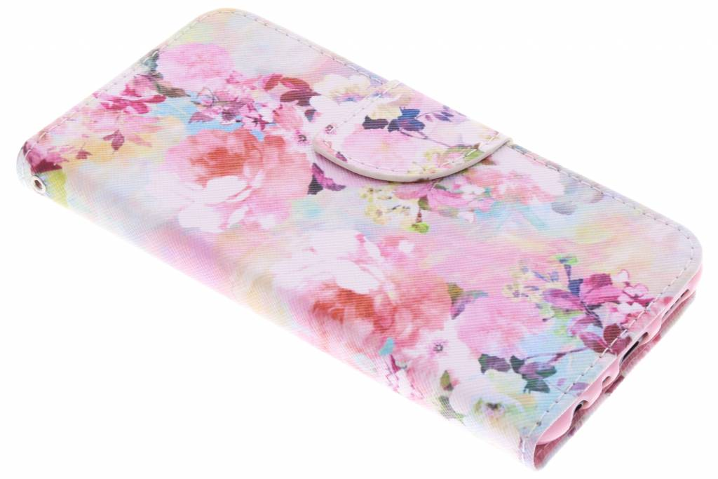 Colorful Flowers design TPU booktype hoes voor de Huawei P Smart