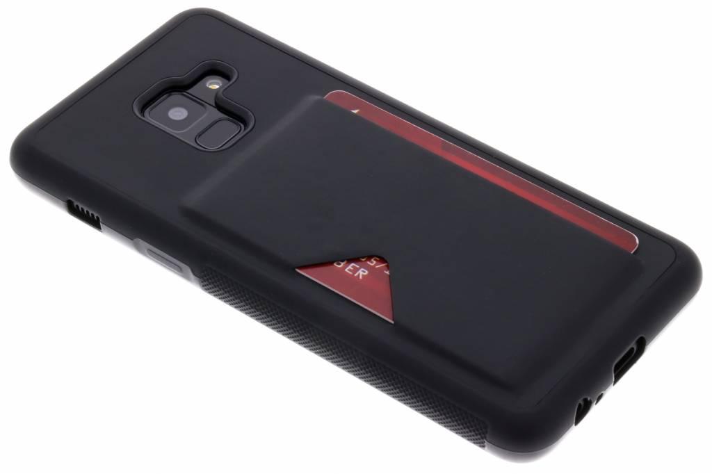 Zwarte Cardslot Hardcase voor de Samsung Galaxy A8 (2018)