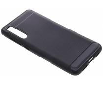 Zwart Brushed TPU case Huawei P20 Pro