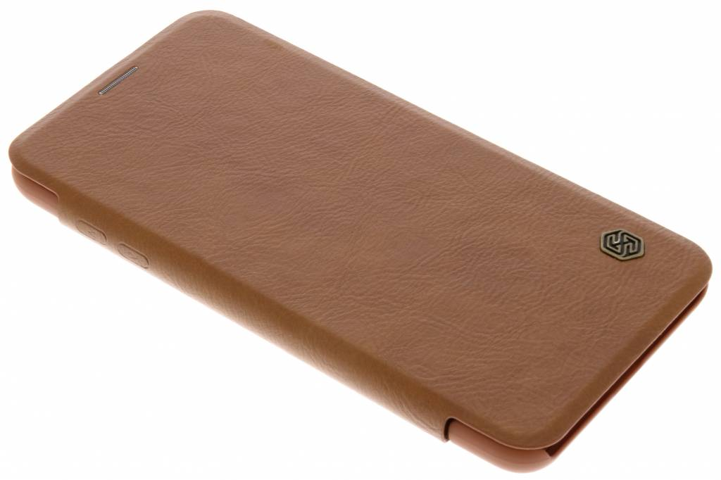 Nillkin Bruine Qin Leather slim booktype voor de LG V30