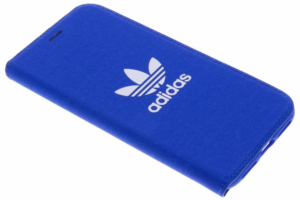 Blauwe Adicolor Booklet Case voor de iPhone X
